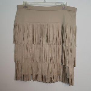 Chico's fancy Fringe skirt 3